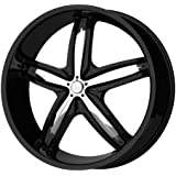 """Helo HE844 Gloss Black Wheel With Removable Chrome Accents (18x8""""/5x112, 120mm, +40mm offset)"""
