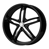 Helo HE844 Gloss Black Wheel with Chrome Accents - (18x8