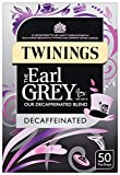 Twinings Decaffeinated The Earl Grey 50 Teabags (Pack of 2,Total 100 Teabags)
