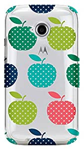 WOW Transparent Printed Back Cover Case For Motorola Moto E(2nd Gen)