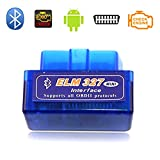 NorSway Car OBD2 Code Reader V1.5 Super Mini ELM327 Bluetooth Diagnostic Scan Tool Check Engine Light for Android and Windows System Torque Pro