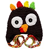 Stretchy Crochet Animal, Bug, Football, Cupcake Hat for Baby/Toddler - One Size (Turkey)