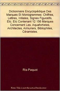 Dictionnaire encyclop dique des marques et monogrammes for Dictionnaire des architectes