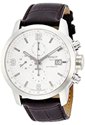 Tissot Men's Automatic Stainless Steel and Brown Leather Dress Watch (Model: T0554271601700)