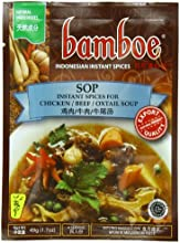 Bamboe Sop Chicken Beef and Oxtail Soup 17-Ounce Pack of 12