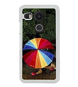 Multicolour Umbrella 2D Hard Polycarbonate Designer Back Case Cover for LG Nexus 5X :: LG Google Nexus 5X New