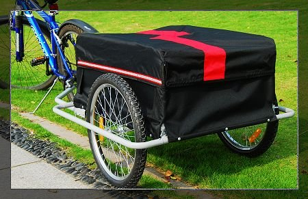 i10Direct Bicycle Cargo Trailer Red and Black
