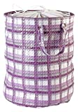 My Gift Booth Leatherette Laundry Bag, Purple