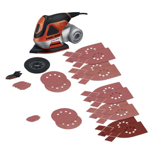 Black & Decker MS1000 Cyclone 1.4 Amp Orbital 4-in-1 Multi Sander