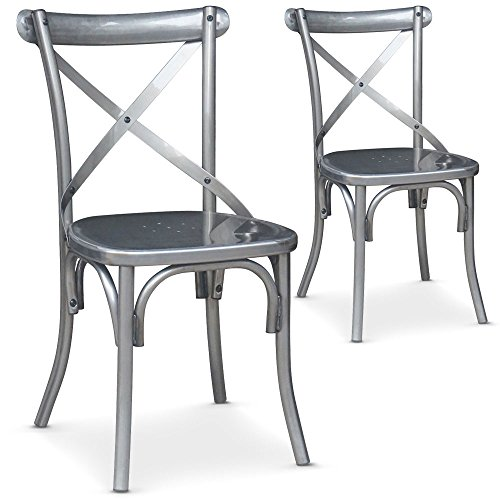 chaise metal les bons plans de micromonde. Black Bedroom Furniture Sets. Home Design Ideas