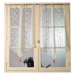 Home maison hm6922637 coppia di tende a vetro in organza for Tende in organza