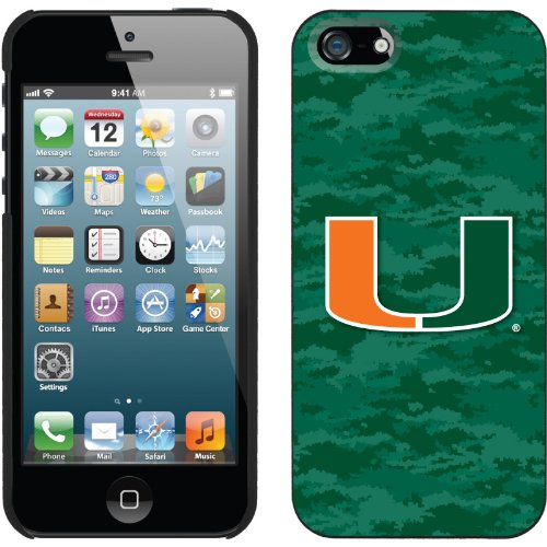 Great Price University of Miami Green Camo design on a Black iPhone 5 Thinshield Snap-On Case by Coveroo