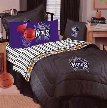 NBA Sacramento Kings- 4pc Full-Double Bedding Sheet Set