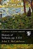 History of Indiana, pp. 1-153
