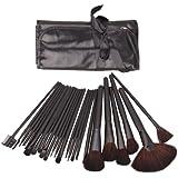 24 Pcs Elegant Professional Beauty Cosmetic Makeup Make up Brush Brushes Set Kit with Black Bag Case Pouch