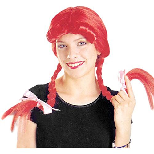 Adult Red Farmers Daughter Pig Tail Wig