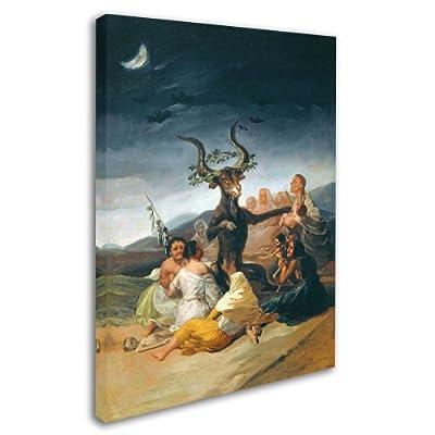 Trademark Fine Art The Witches' Sabbath 1797-98 Artwork by Francisco Goya