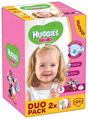 Huggies - Bimba - Couches - Taille 5 (12 - 18 Kg) - 2 x 42 couches