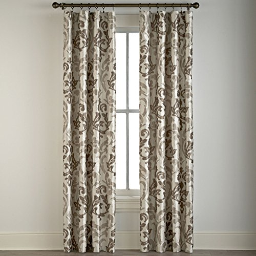 Cindy Crawford Style Trivoli Rod Pocket Curtain Panel Honey