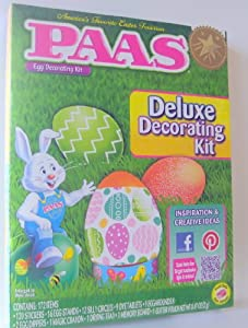 Paas Deluxe Egg Decorating Kit - Each Kit Includes 9 Dye Tablets, 120 Stickers, 16 Egg Stands, 1 Magic Crayon, 1 Glitter Pouch a Total of 172 Items Per Kit - 2 Kits Per Package