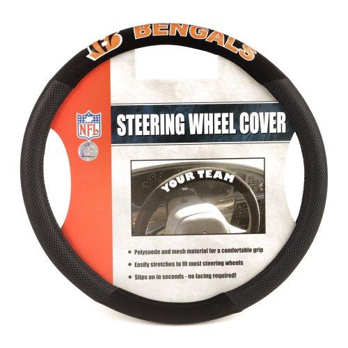 NFL Cincinnati Bengals Poly-Suede Steering Wheel Cover
