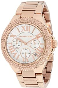 Michael Kors Women's Bella MK5636 Rose-Gold Rose-Gold Quartz Watch with White Dial