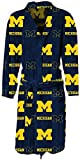Michigan Wolverines Mens Highlight Micro Fleece Plush Robe() at Amazon.com