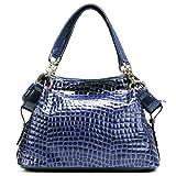 PASTE Women's Royal Blue Leather Handbag