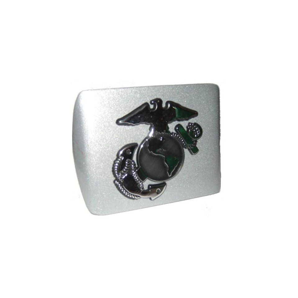 USMC Insignia Silver Metal Hitch Cover