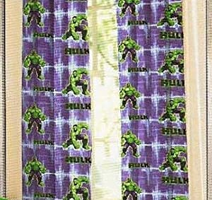 Marvel The Incredible Hulk Window Panels - Drapes - Curtain Set from Marvel The Incredible Hulk