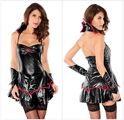 Purplebox Halloween Cosplay Vampire Tutu Leather Skirt Set