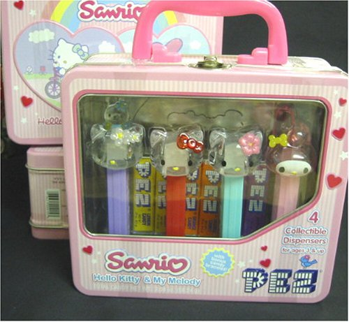 Hello Kitty and My Melody Collecible Pez Set