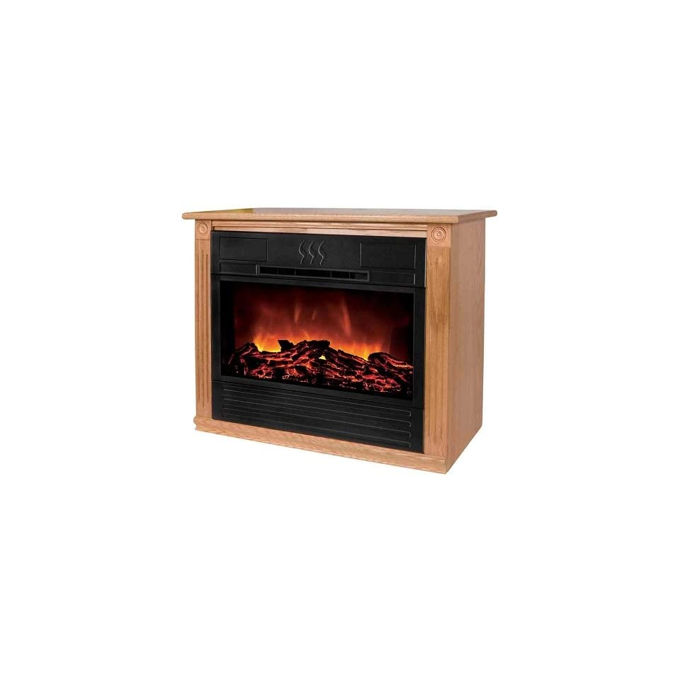 Refurbished Amish Roll And Glow Heat Surge Electric Fireplace On Popscreen