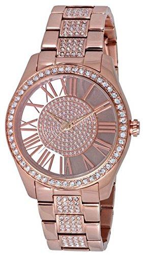 Wristwatch KENNETH COLE trasparenza IP-Orologio donna con cristalli in oro rosa, 3 ATM KC0029, 38 mm