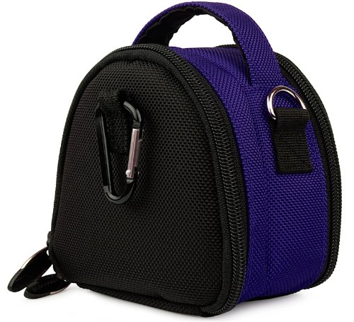 Blue Limited Edition Camera Bag Carrying Case with Extra Accessory Compartment for Olympus Point and Shoot Digital Camera