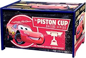 Disney Pixar Cars Lightning McQueen Wooden Toy Box