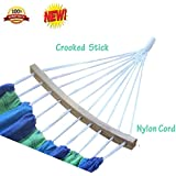 Canvas Hammock by SKYIN®, Extra Wide Bed, Rollover prevention,Includes Storage Pouch,400Pounds Maximum Capacity