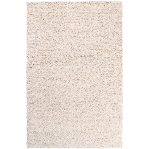 Surya Cirrus CIRRUS-2 Shag Hand Woven 100% New Zealand Felted Wool Winter White 8' x 10' Area Rug