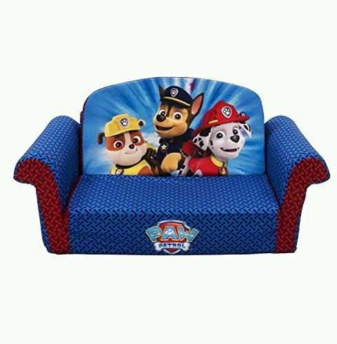 Nickelodeon PAW PATROL FLIP OPEN SOFA COUCH, Marshall Rubble Chase / Childrens Kids Sofa Furniture NEW