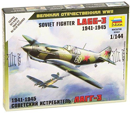 Zvezda Models 1/144 Soviet Fighter LaGG-3 New Tooling Snap Kit