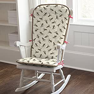 Amazon com carousel designs sock monkey rocking chair pad baby