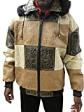 High Roller Detroit Jacket (6XL, brown) by Leather Factory Outlet