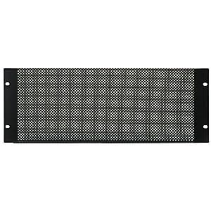 4U Black Vented Rack Panel