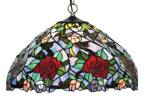 Oaks Lighting Flite Tiffany Pendant, 18-inch
