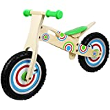 Circle Mania Kids / Boys / Girls Wooden Balance Bike Scooter First Ride Training Learning Bicycle Cycle