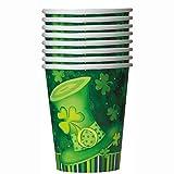 9oz Saint Patrick s Day Stripes Paper Cups, 8ct