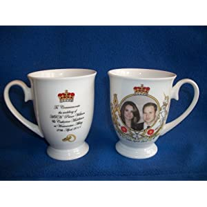 HRH Prince William and Kate Middleton Bone China Wedding Mug (10.5 cms)