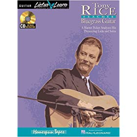 Tony Rice Teaches Bluegrass Guitar (Book &amp; CD)