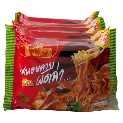 Wai Wai Instant Noodles Pad Char Baby Clam 60G. Pack 5