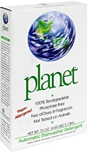 Planet Automatic Dishwasher Detergent, Powdered, 75-Ounce (Pack of 8)